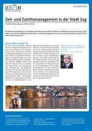 Zeit- und Zutrittsmanagement in der Stadt Zug - Zeit AG