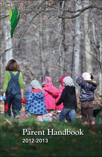 Parent Handbook ONLY - Green Meadow Waldorf School
