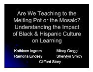 Understanding the Impact of Black and Hispanic Culture