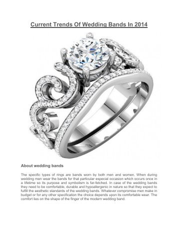 Current Trends Of Wedding Bands In 2014 | MyBridalRing Blog