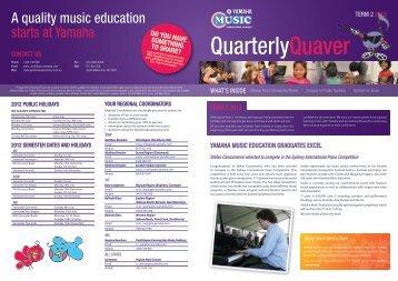 a quality music education starts at Yamaha - Yamaha Music School