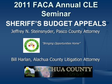 Sheriff Budget Appeals - Florida Association of Counties