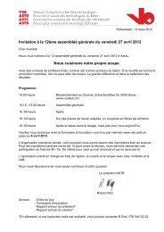 Invitation à la 12ème assemblée générale du vendredi 27 avril 2012 ...