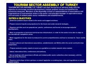 TOURISM SECTOR ASSEMBLY OF TURKEY - cacci