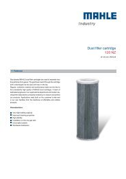 Dust filter cartridge 120 NZ - MAHLE Industry - Filtration