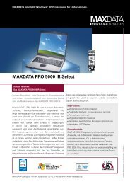 MAXDATA PRO 5000 IR Select