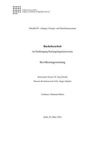 Bachelorarbeit - Bundesamt für Bevölkerungsschutz und ...