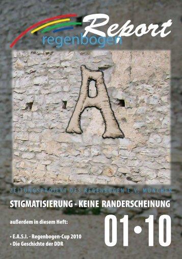 Stigmatisierung - keine Randerscheinung, Regenbogen-Cup 2010
