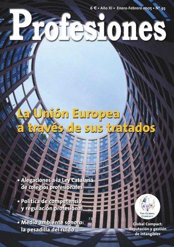 La Unión Europea a través de sus tratados - Revista Profesiones