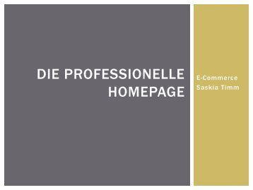 Professionelle Website_Referat