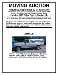 MOVING AUCTION - North Star Auction & Appraisal