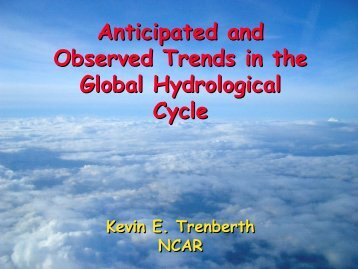TRENDS - NEWS (The NASA Energy and Water cycle Study)
