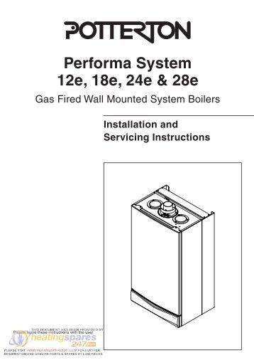 Potterton performa 24 installation manual heatingspares247 potterton performa 12e heatingspares247 cheapraybanclubmaster Choice Image