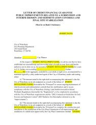 Subdivision Letter of Credit - Waterbury