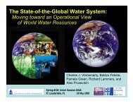 The State-of-the-Global Water System: - NEWS (The NASA Energy ...