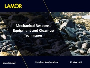 Mechanical Response Equipment and Clean-up Techniques - NEIA