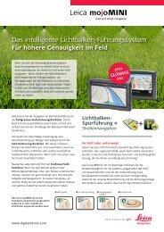 Das intelligente Lichtbalken-Führungssystem - Leica Geosystems