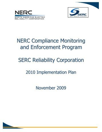 NERC Compliance Monitoring and Enforcement Program SERC ...