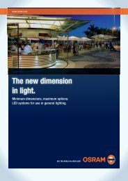 The New Dimension In light. - OSRAM