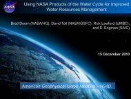 Doorn - NEWS (The NASA Energy and Water cycle Study)