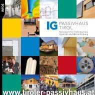 Qualitätssicherung - IG Passivhaus Tirol