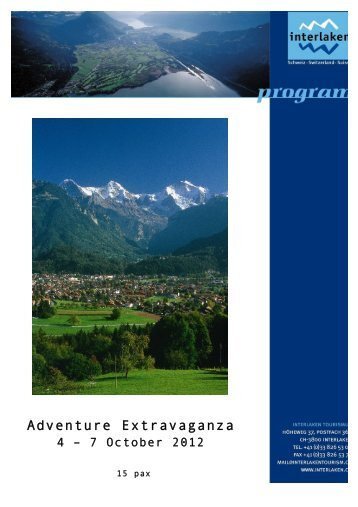 Adventure Extravaganza Interlaken - Jungfrau Region