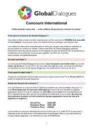 Brochure du concours sous PDF - Global Dialogues