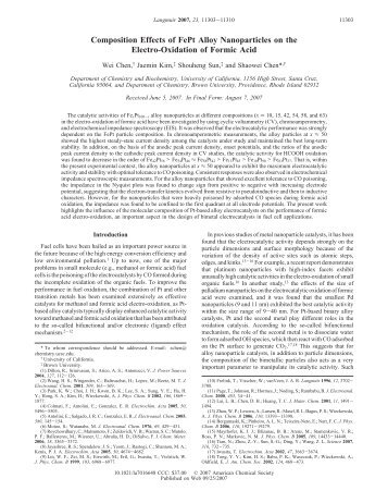 Composition Effects of FePt Alloy Nanoparticles on the Electro ...