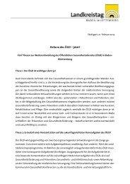 Reform des ÖGD – jetzt! - Landkreistag Baden-Württemberg