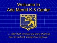 Ada Merritt K-8 Center - Miami-Dade County Public Schools