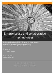 Enterprise 2.0 and collaborative technologies