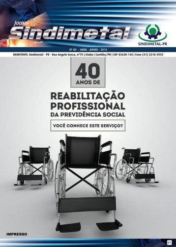 Edição nº 80 - Abril a Junho de 2013 - Sindimetal/PR