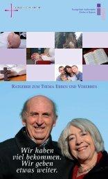 Ratgeber zum Thema Erben und Vererben - fundraising evangelisch