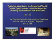 Fostering Learning in the Networked World - Redesigning ...