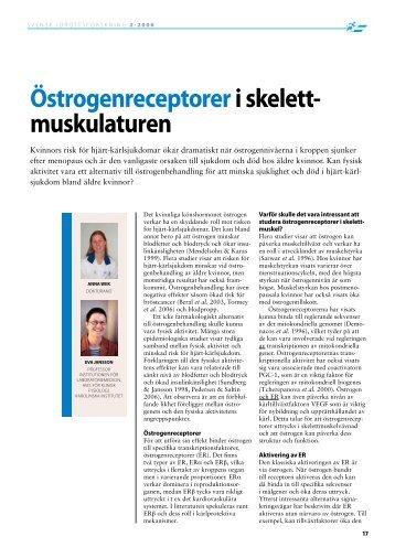 Östrogenreceptoreri skelett- muskulaturen - GIH
