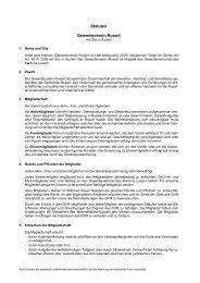 Statuten Gewerbeverein Ruswil