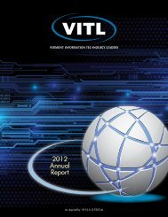 (VITL) 2013 Annual Report covering Calendar Year 2012