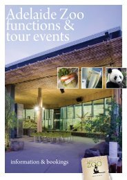information & bookings - Zoos South Australia