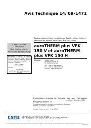 auroTHERM VFK150 - Avis Technique - n°14-09-1471 - Vaillant