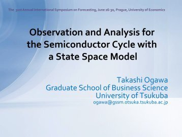 Observation and Analysis for the Semiconductor Cycle with a State ...