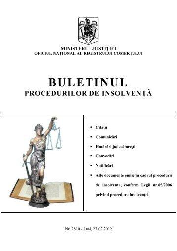 buletinul procedurilor de insolvenţă