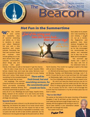 2010 June Beacon Newsletter -- News & Notes ... - FBC Alexandria