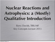 Barry Davids, TRIUMF Key Concepts Lecture 2013