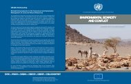 environmental scarcity and conflict - Disasters and Conflicts - UNEP