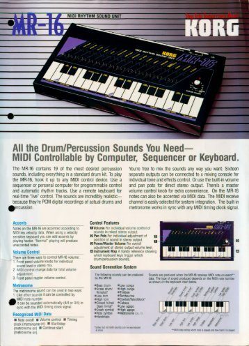 All the Drum/Percussion Sounds You Need— - Korg Forums