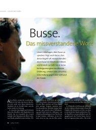 Busse – das missverstandene Wort - Ethos