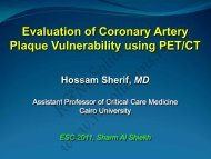 Evaluation of Coronary Artery Plaque ... - cardioegypt2011