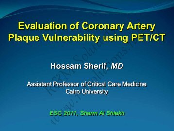 Evaluation of Coronary Artery Plaque ... - cardioegypt2011
