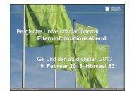 Vorbereitungen 2013 der Bergischen Universität im Überblick. - ZSB ...