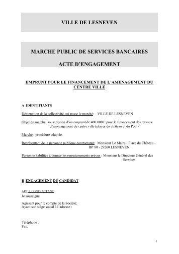 marche public de prestations de services d ... - Ville de Lesneven